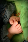 What colour could be more appropriate as a backdrop for baby feet? It just feels right.