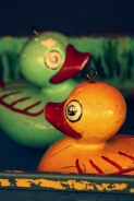 Vintage ducks in a sideshow