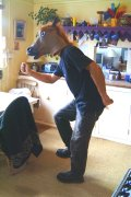 dancing in a horse's head