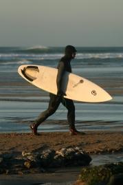 surfer walking
