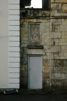 old building wit TV