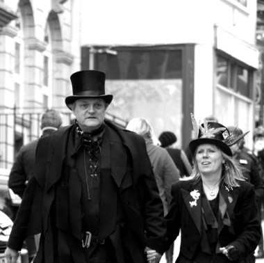 people in black B&W square